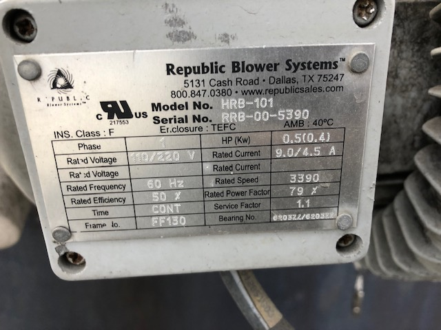 Testimonials Republic Blower Systems #B73614